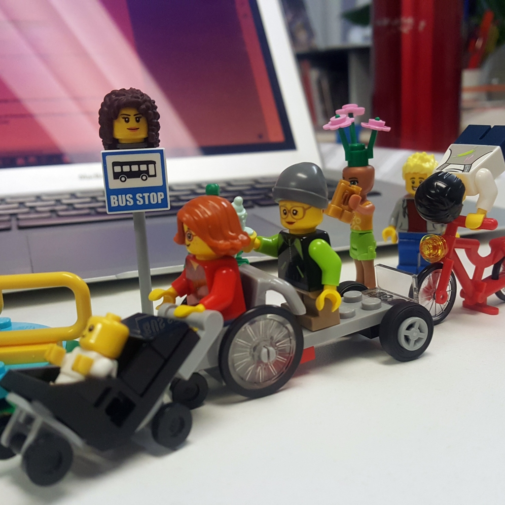 A lego set of all different characters representing a diversity of different people and user groups